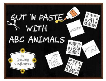ABC Cut N Paste with Animals Through the Alphabet