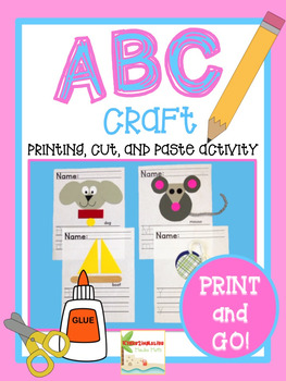 ABC Cut, Paste, and Printing - Common Core Aligned