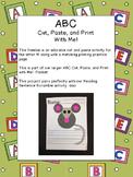 ABC Cut, Paste, and Print- M - Common Core Aligned Freebie