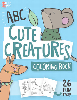 ABC Cute Creatures Coloring Book