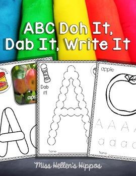 Alphabet Doh It, Dab It, and Write It!