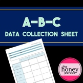 ABC Data Collection Sheet - Perfect for ABA therapists and teachers!
