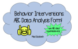 ABC Data Form and Analysis Sheets