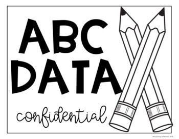 ABC Data Sheets (Editable)
