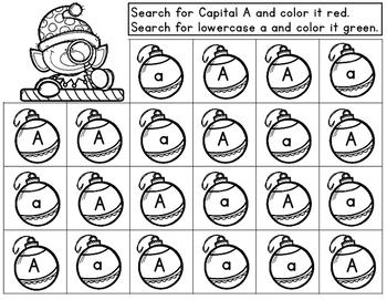 ABC Detective Elf:  Letter Recognition Worksheets