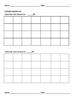Alphabet Dictation Assessment