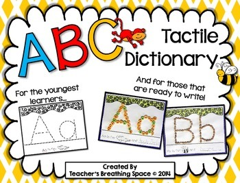 ABC Dictionary --- Interactive, Tactile Alphabet Book for Young Learners