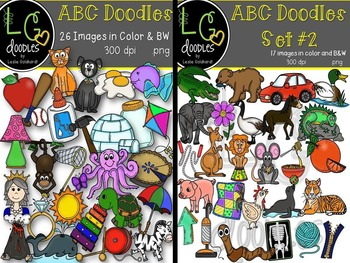 ABC Doodles Bundle (Sets #1 & #2)