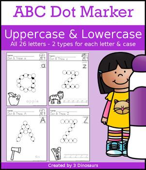 ABC Dot Marker Uppercase & Lowercase