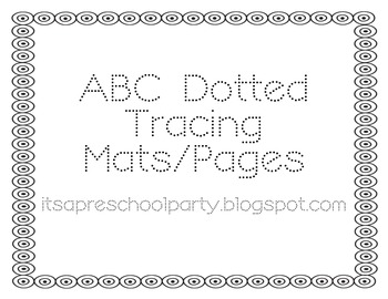 ABC Dotted Tracing Pages/Mats
