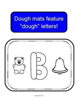 ABC Dough Mats for Practicing the Alphabet with Dough, Black and White, 92 Pages