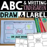 ABC Draw and Label - Beginning Sound and Writing Activities for Kindergarten