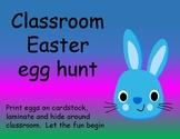ABC Easter eggs for preschool game