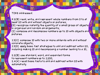 ABC, Easy as 123- Primary Number Sense