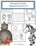 Alphabet Activities: Emergent Reader #4 From Ape to Zebra