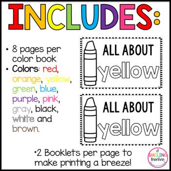 Color Words Emergent Readers (Interactive)