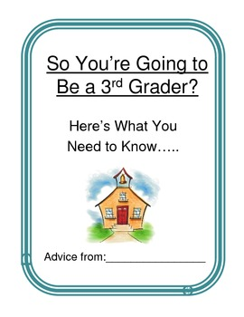 ABC End Of Year Advice Book 3rd grade