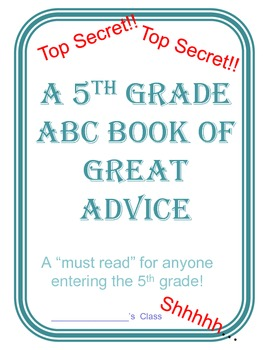 ABC End Of Year Advice Book 5th grade