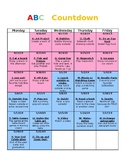 ABC End of the Year Countdown- EDITABLE