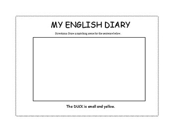 ABC English Diary Pages