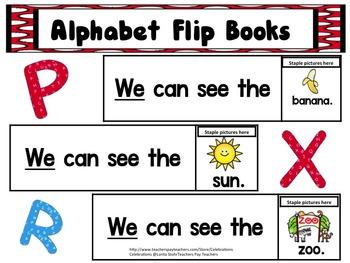 ABC FLIP BOOKS (Using We)