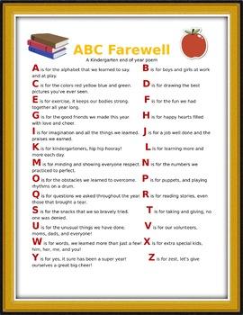 ABC Farewell Poem