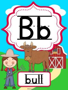 On the Farm Alphabet Posters (ABC)