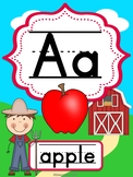On the Farm Alphabet Posters (ABC)