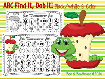 ABC Find It, Dob It Apple & Worm!