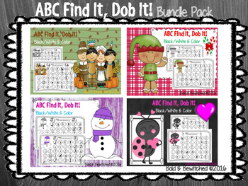 ABC Find It, Dob It BUNDLE- Bonus Included