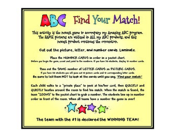 ABC Find Your Match FREEBIE