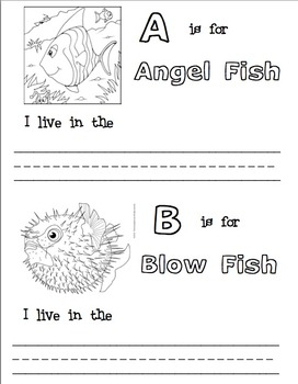 ABC Fish and Their Habitats Book Templates