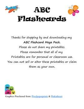 ABC Flash Card Mega Pack
