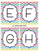 Bright Chevron ABC Flash Cards