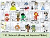 Alphabet/ABC Flash Cards (Superheros and Princesses)
