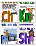 ABC PHONICS Flash Cards! Consonant digraphs, vowel diphthongs Sample.