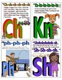 ABC PHONICS Flash Cards! Consonant digraphs, vowel diphthongs Sample.