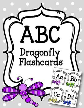 ABC Flashcards- Dragonflies. Dragonfly. ABC flashcard games