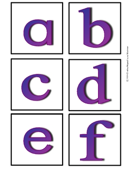 ABC Flashcards Generic--Lowercase
