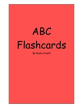 ABC Flashcards- capital and lowercase letters