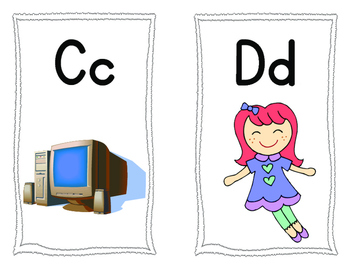 ABC Flashcards to Match Starfall Song