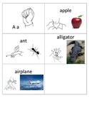 ABC Flashcards with Sign Langauge