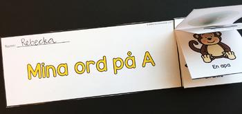 ABC-Flip Books (svart-vit) SVENSKA