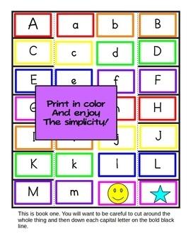 ABC Flip Flap Booklets - A Letter Recognition Activity - File Folder Games