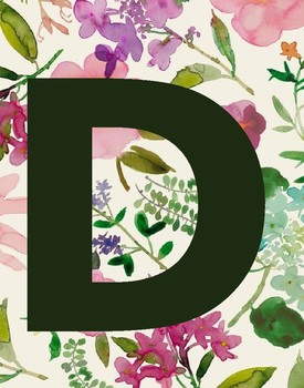ABC Floral Alphabet