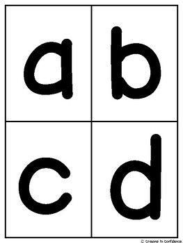 ABC Fluency Flash Cards for Sounds and Lower Case Letters