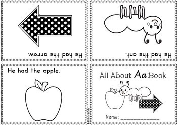ABC Foldable Readers - one page readers - print font