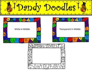 ABC Frames Freebie Clipart by Dandy Doodles