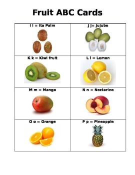 ABC Fruit Cards