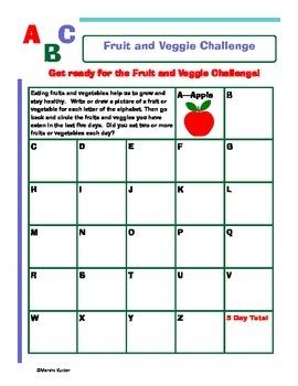 Fruit and Veggie ABC Challenge